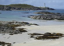 Kentra, view across Eilean Chaluim Cille bay to Ardnamurchan Point, Highland © Richard Suddaby